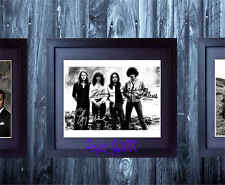 THIN LIZZY BAND X4 SIGNED FRAMED & MOUNTED 10x8 REPRO PHOTO Phil Lynott