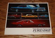 Original 1965 Ford Full Line Sales Brochure 65 Mustang Fairlane LTD