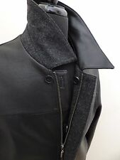 MISSANI MEN'S REVERSIBLE LAMBSKIN LEATHER WOOL CASHMERE JACKET CAR COAT M MEDIUM