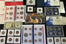 COINS LOT UN-RELEASED MINT+ PROOF+ 90% SILVER COINS+ NO JUNK, NO RESERVE #B99