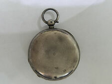 ANTIQUE FUZEE STERLING SILVER LIVER POOL POCKET WATCH HUNTER CASE & DIAL - 5628