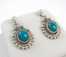 Lovely Navajo Sterling Silver & Turquoise Earrings GEORGE BEGAY │RS L