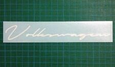 Volkswagen VW VDUB Script Sticker Gloss White Avery Graphics Vinyl