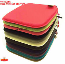 Seat Pads, Plain Coloured Kitchen-Dining Room Tie on Chair Cushion