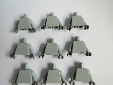 9 LEGO  Plain Grey Body Torso Grey Hands For Minifigures Star Wars Endor Ewok