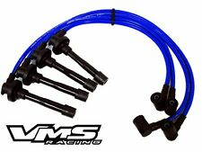 VMS FOR 91-02 INFINITI G20 10.2MM RACING TRIPLE CORE SPARK PLUG WIRES SET BLUE