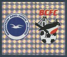 PANINI FOOTBALL LEAGUE 1996- #358-A-B-BRIGHTON / BRISTOL CITY-TEAM BADGES-FOIL