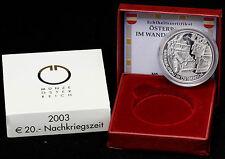 Österreich 20 Euro 2003 Die Nachkriegszeit PP