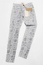 CURRENT/ELLIOT Womens White Lace Print Skinny Slim Pants Slacks Jeans  24-0 NEW