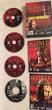 Rome: Total War Gold Edition PC Rome Barbarian Invasion 4 Disc CD KEY FREE SHIP!