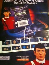 Star Trek 1991 Space Stamps Leonard Nimoy POST OFFICE Display & RARE POSTER Set