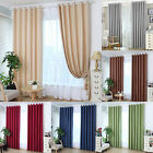 1x2m Solid Rod Grommet Window Curtain Foam Lined Blackout Treatment Panel Drapes