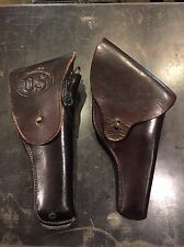 Outstanding WW1 45 Holster Dated 1918 & A Revolver Holster Lot
