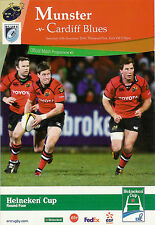 Munster v Cardiff Blues - Heineken Cup 16 Dec 2006 Thomond Park, RUGBY PROGRAMME