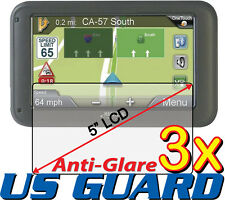 "3x Anti-glare LCD Screen Protector Magellan RoadMate 5245T-LM 5255T-LM 5"" GPS"