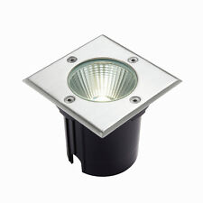 Saxby Ayoka 10W Square Steel IP67 Outdoor Garden Decking Buried LED Ground Light
