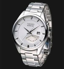 NEW MEN'S SEIKO KINETIC RETROGRADE 5 MONTH POWER RESERVE ANALOG WATCH SRN043P1