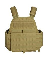MIL-TEC MILITARY COMBAT PADDED PLATE CARRIER TACTICAL ARMY MOLLE VEST COYOTE TAN