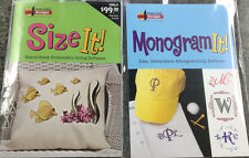 Amazing Designs MONOGRAM IT & SIZE IT Embroidery Machine Software Combo AD-MISI