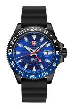 "CX Swiss Military Watch ""gmt Nero Scuba"" 27771 swiss made 20atm silicona 106g"
