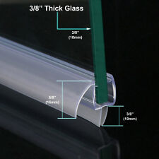 "3/8"" FRAMELESS GLASS SHOWER DOOR BOTTOM SEAL SWEEP DRIP RAIL CLEAR PLASTIC 36"""