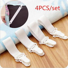4 x Bed Sheet Mattress Cover Blankets Grippers Clip Holder Fasteners