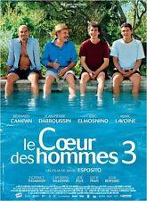 Affiche 40x60cm Le Coeur Des Hommes 3 (2013) Campan Darroussin Elmosnino BE
