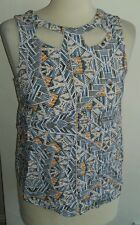 New look pattern cut out top size 10