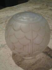 ANCIEN VERRE DE LAMPE PRESSE ART DECO /LUMINAIRE/LUSTRE/PLAFONNIER