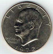 "1972-D Eisenhower Dollar ""Circulated"" US Mint Coin Ike"