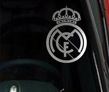 2 (PAIR) REAL MADRID Chrome Vinyl Decal Car Truck Window STICKER Soccer Futbol