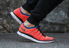NIKE FREE FLYKNIT NSW Running Trainers Shoes Gym Casual - UK 11 (EUR 46) Crimson