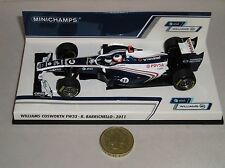 Minichamps 410110011 Williams Cosworth Fw33 fórmula 1 Auto 2011 Barrichello 1:43