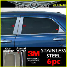 2005-2010 CHRYSLER 300C 300 6pc STAINLESS STEEL Chrome Pillar Post Trim Overlays