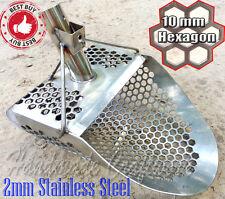 HEXAHEDRON -10* 2mm Stainless Steel Beach Sand Scoop Metal Detector Hunting Tool