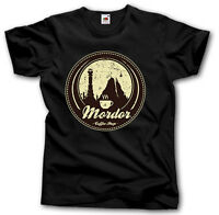 MORDOR COFFEE SHOP T SHIRT S-XXXL LORD OF THE RINGS FUNNY