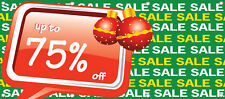 BANNER SALE UP TO 75% OFF RETAIL STORE Holiday SALE SIGN Multi Color 96in X 36in