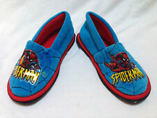 Spiderman Spider Man Boy Shoe Size 7-8 Rubber Sole Halloween Accessory New w Tag