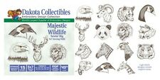 Dakota Collectibles Embroidery Machine Design CD - Majestic Wildlife 970433