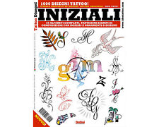 INITIAL Tattoo Flash Design Book 66-Pages Alphabet Sketch Black Color Art Supply