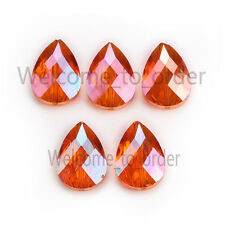 24mm Hot Faceted Colorized Glass Crystal Bead Teardrop Loose Spacer Beads