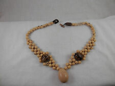 "Vintage Acai Seed necklace 18"" Ethnic Tribal Gorgeous"