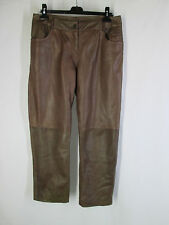 DANIER 12 PANTS brown varied natural jean styling 100% soft leather pockets
