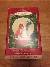 Hallmark Keepsake Ornament Disney 2001 ARISTOCATS Thomas O'Malley & Duchess NEW