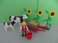 PLAYMOBIL – Enfant avec vache de la ferme / Chidren with cow / 4490