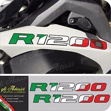 2 Adesivi Serbatoio Moto BMW R 1200 gs adventure Tricolore Italia 280 x 30 mm