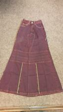 NEW Purple/Green Long/Full Length Fishtail Skirt Steampunk/Cyber/Goth/Punk W22""