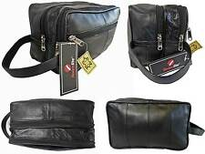 Soft Genuine Leather Toiletry Toiletries Wash Bag Travel Gym Bags Roamlite RL215