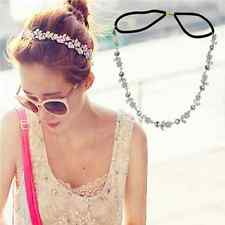 Elegant Womens Metal Rhinestone Head Chain Jewelry Party Headband Hair Band Gift