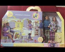 Grandma's Kitchen Grandparents Gift Set Happy Family Barbie Doll Grandpa Grandma
